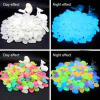 200Pcs Luminous Pebbles Stones Glow In The Dark for Wedding Party Event Supplies Gardening Swimming Pool Bar Decoration Rocks