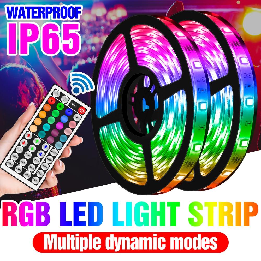 Tira de luces LED RGB para decoración de pared de habitación, lámpara Flexible RGBW de 12V, RGBWW, resistente al agua, 5, 10, 15, 20M
