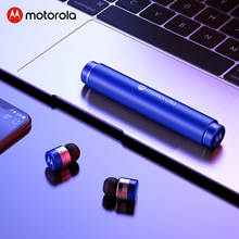 Motorola Tws 5.0 Bluetooth Earphone 20H Waktu Bermain IPX6 Touch Kontrol Nirkabel Earbud Dynamic Noise Cancelling dengan MIC Vb300(China)