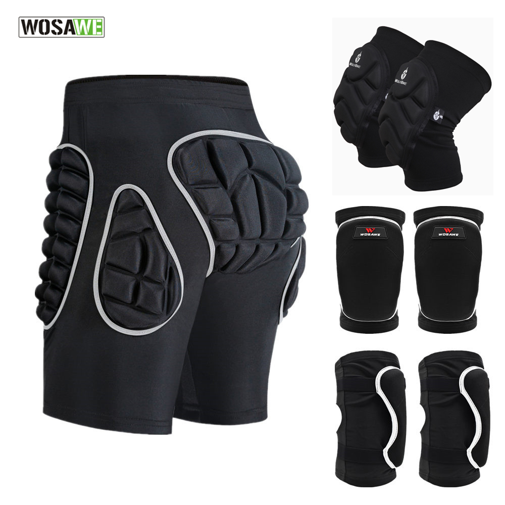 WOSAWE Hip Protection Shorts Snowboard Skateboard Ski Sports Shorts Thicken EVA Padded Shorts Hockey Skating Butt Protector