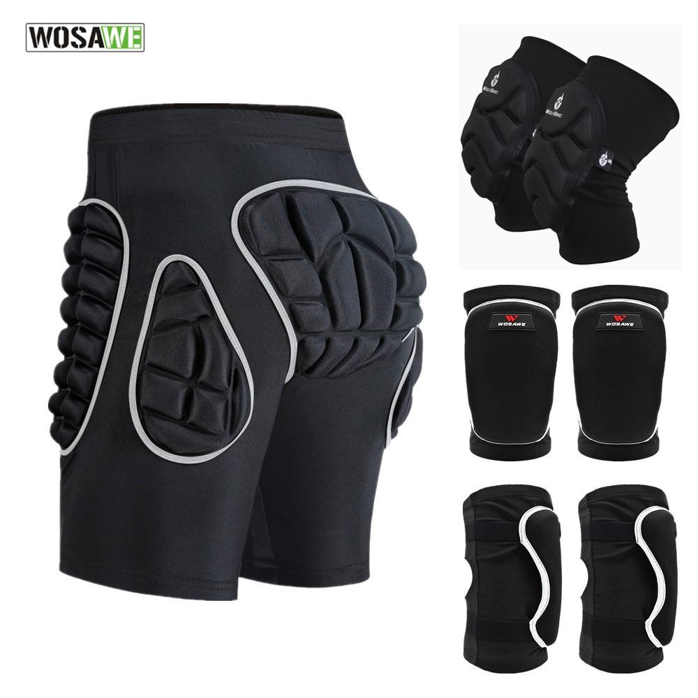 WOSAWE Hip Protection Shorts Snowboard Skateboard Ski Sports Shorts Thicken EVA Padded Shorts Hockey Skating Butt Protector