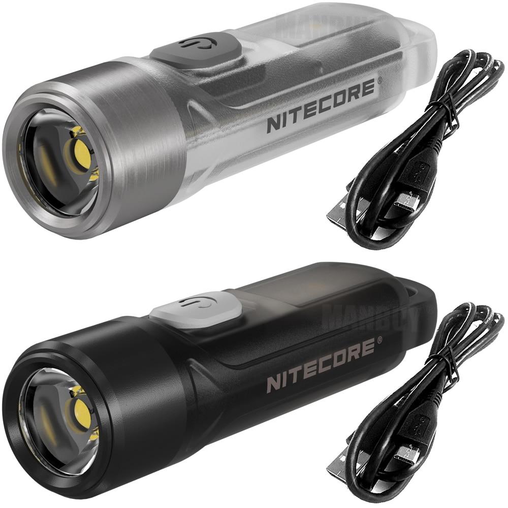 Wholesale NITECORE TIKI CRI White OSRAM P8 LED+ UV Light Rechargeable Flashlight Built-in Battery Mini Body Fingertips Keylight