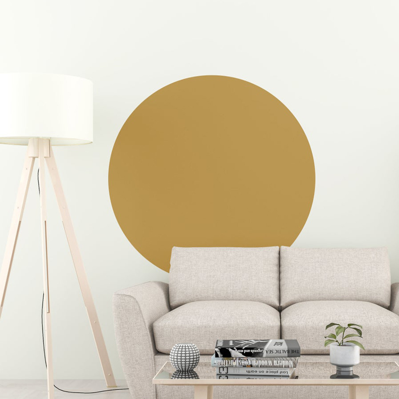 Circle Wall Decal Abstract Scandinavian Decor, Home Decoration Nordic Style Geometric Removable Sticker Exquisite Life E227