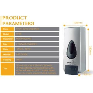 Image 5 - 500ml Foam Soap Dispenser Wall Mount Hand Sanitizer Dispensers ABS Plastic Large Capacity Washroom Toilet Bathroom Accessories