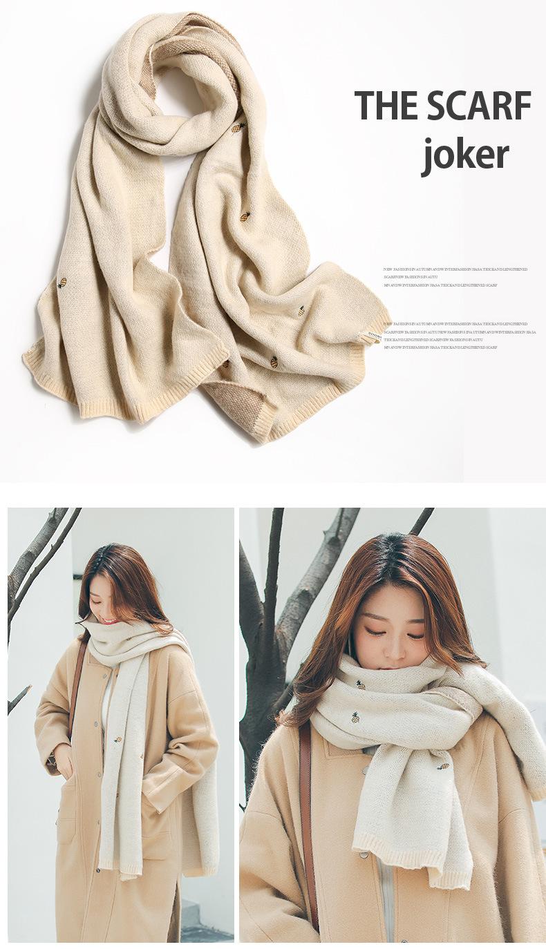 Осень зима 2020 новый двухсторонний шарф из искусственного кашемира