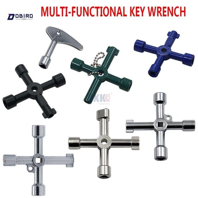 다기능 4 가지 방법 범용 삼각형 렌치 키 배관공 키 삼각형 가스 전기 미터 캐비닛 출혈 라디에이터 dbird