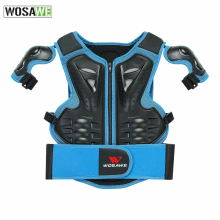 WOSAWE Kids Snowboarding Vest Armor Children Chest Protector Snowboard Skiing Skate Body Protection Bike Youth Child Armor Gear