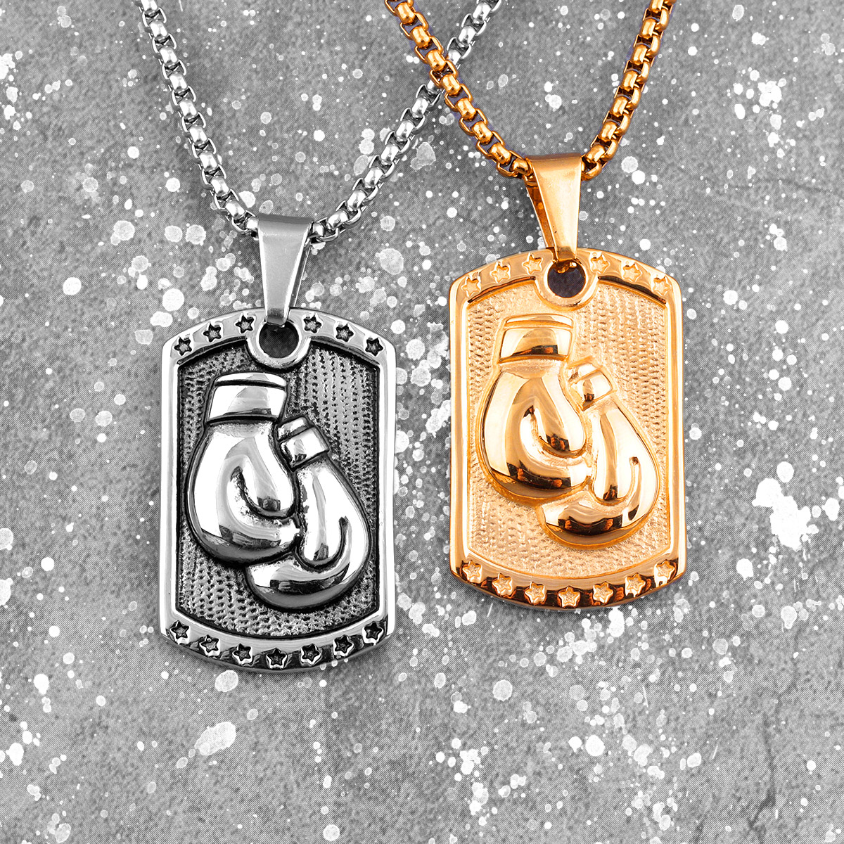 Necklaces,Jewelry,Personalized Stainless Steel Men Boxing Glove Charm Fitness Gym Pendant Necklace Vintage Men Hip Hop Jewelry Boyfriend Gifts