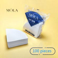 Japan Sanyo Mola hand punch coffee filter paper V60 cone dripper 4 cup coffee drip filter coffee filter