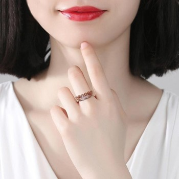 1pc Retro Hollow Chain Girls Ring Fashion Exquisite Golden/Silver Color Open Ring Commuter Party Simple Versatile Accessories image
