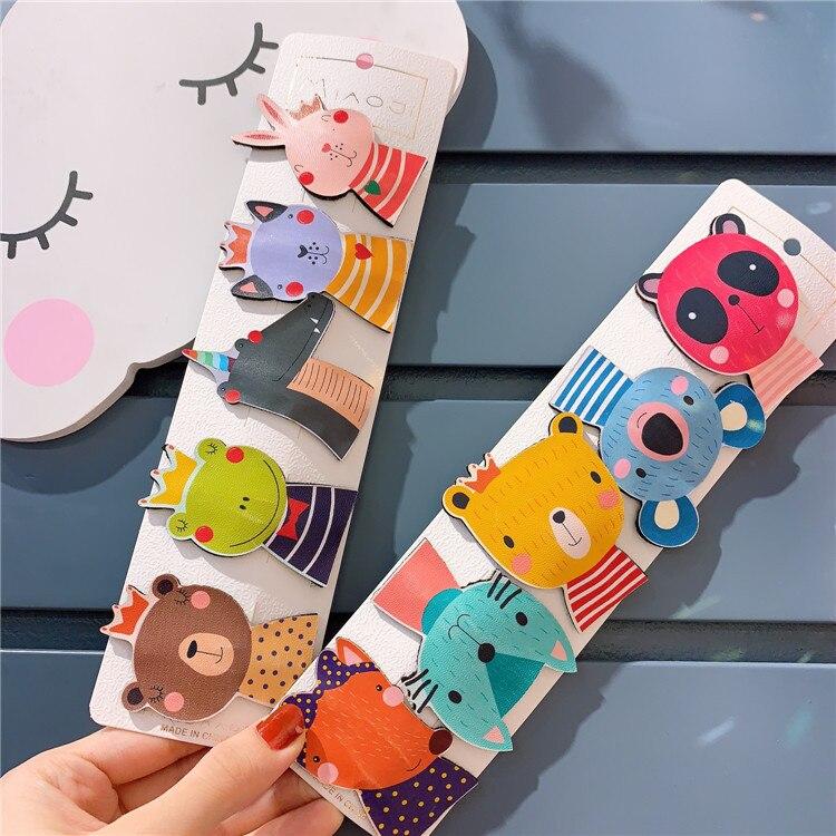 Korean New Children's Cartoon Rabbit Hair Clip Hair Ornament Girl Baby Cute Lovely Animal Color Bb Clip Hair Pin