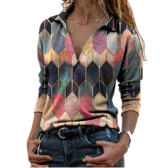 Aprmhisy Graphic Shirts Women Autumn New Long Sleeve Casual Streetwear Blouse Shirt Blusas Femininas 2