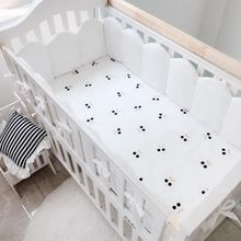 100% Full Cotton Baby Fitted Bed Sheet 120x65cm Fitted Crib Sheets Soft Baby Crib Fitted Bedding Mattress Protectors