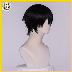 Image 3 - UWOWO toilette relié hanako kun/Jibaku Shounen hanako kun Cosplay perruque 25cm cheveux noirs naturels