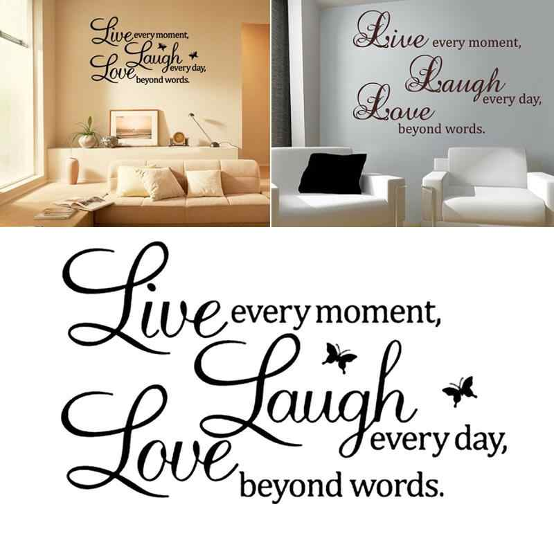 Wallpaper Window Film Mural Wall Sticker Decor Live Laugh Love Home Diy Living Room Bed Art Removable Elegant Vinyl Decoration Aliexpress