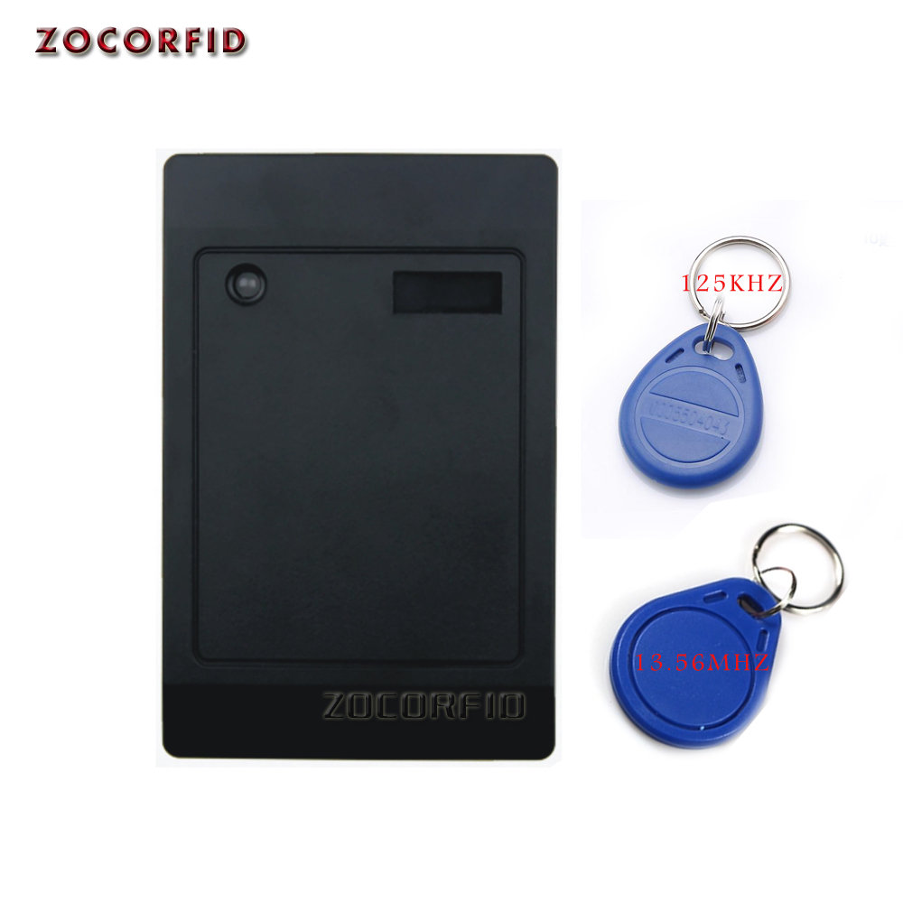 Double Frequency 125kHZ&13.56MHZ RFID Card Reader Without Keypad WG26/34 Access Control RFID Reader For Door Access Controller