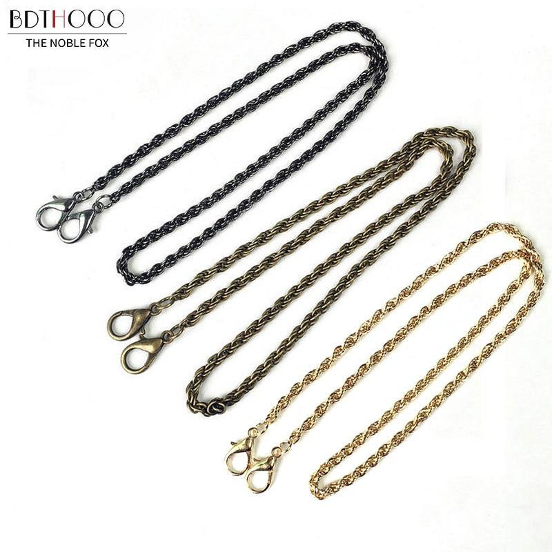 10pcs/lot 60cm Women Metal chain for bag handle Fashion Bag Chain Replacement Shoulder Straps Bag Accessories