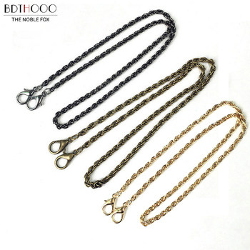 10pcs/lot 60cm Women Metal chain for bag handle Fashion Bag Chain Replacement Shoulder Straps Accessories