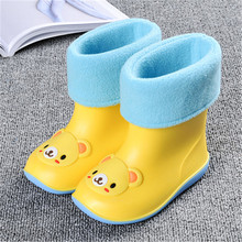 Brand New kids Rainboots PVC Waterproof Kids Toddler Shoes Candy Color Antiskid Water Shoes Boys Girls Baby Rubber Boots(China)