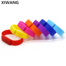 Silicone pen drive Colorful Wrist Band usb flash drive Bracelet pendrive 2.0 32gb 4gb 8gb 16gb 64gb 128gb flash memory Best gift цена и фото