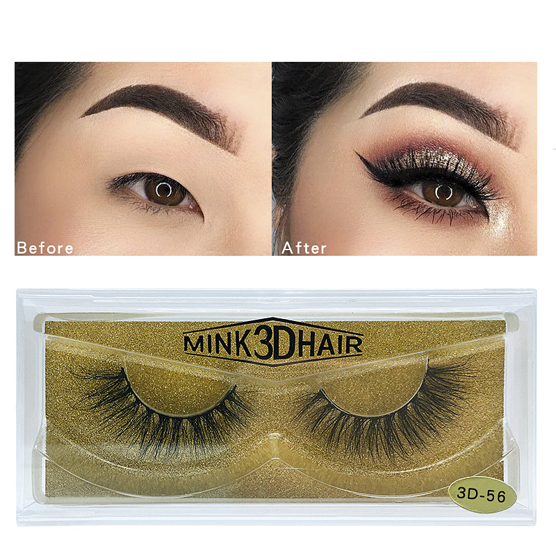 3D Mink Hair Long Lasting Natural  Multi-level Mink Thick Eyelashes Extension  False Eyelash