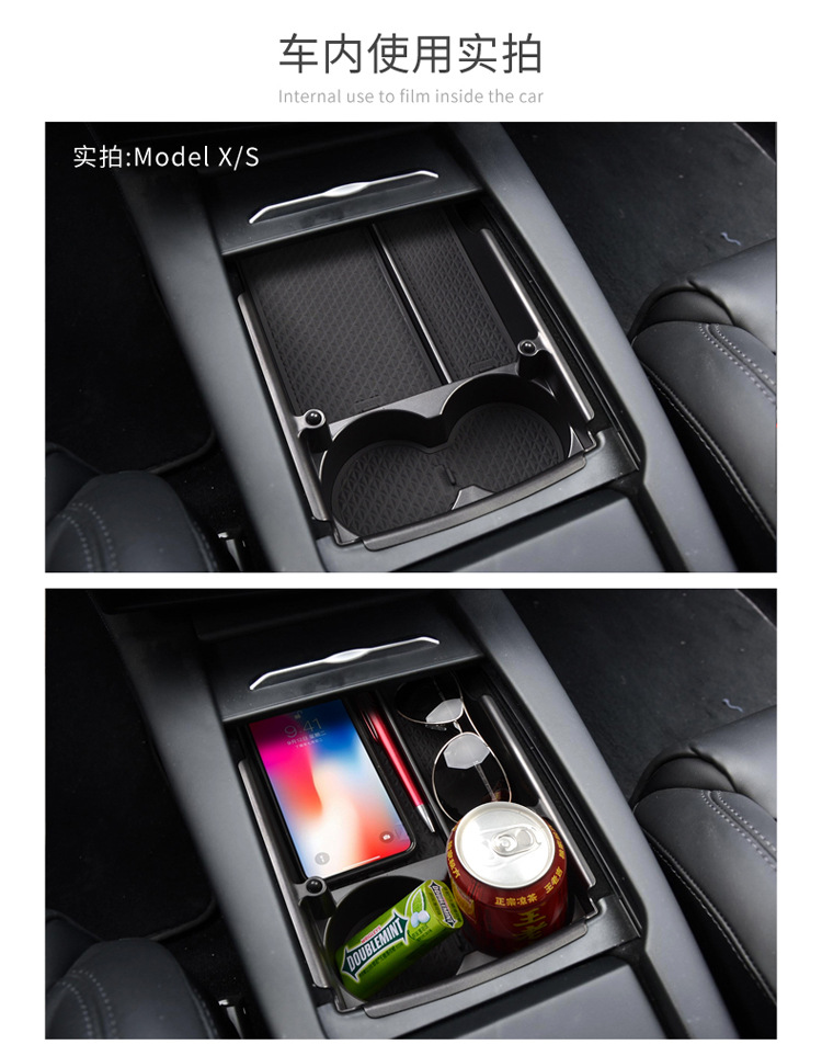 s modelo x recipiente automático luva organizador caso estiva tidying