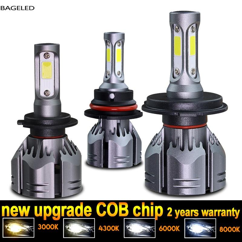 Светодиодсветодиодный лампы для автомобильных фар, H1 4300 HB3 6000 HB4 H8 H9 H11 8000 9005 H13