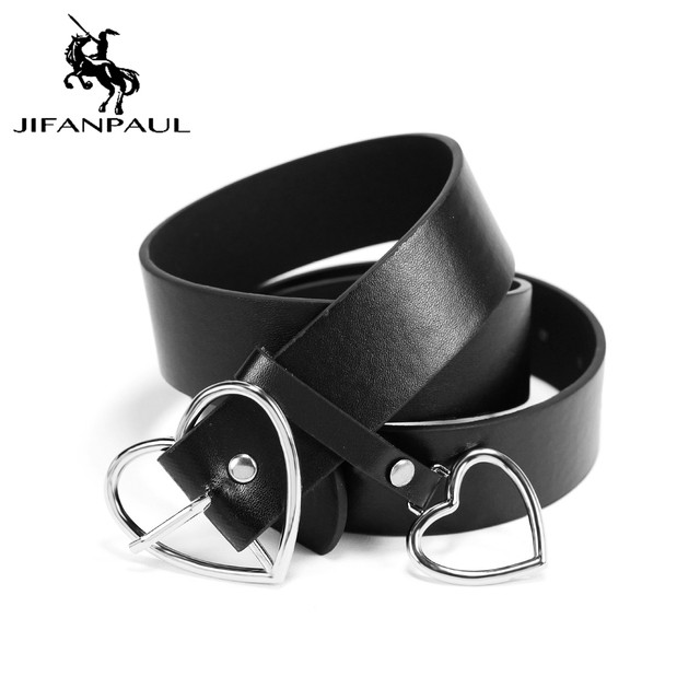 New sweetheart buckle with adjustable ladies luxury brand cute Heart-shaped thin high quality punk fashion belts 2
