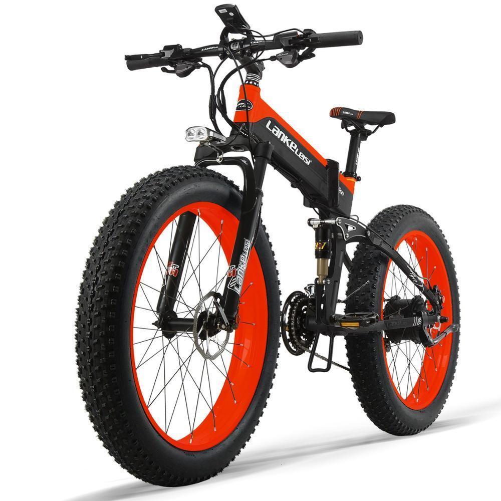 1000W OEM Fat Tire E Bike 48V XT750Plus Spoke wheel Electric Bike / Snow Bike T750 with 10AH L G Lithium Battery 4