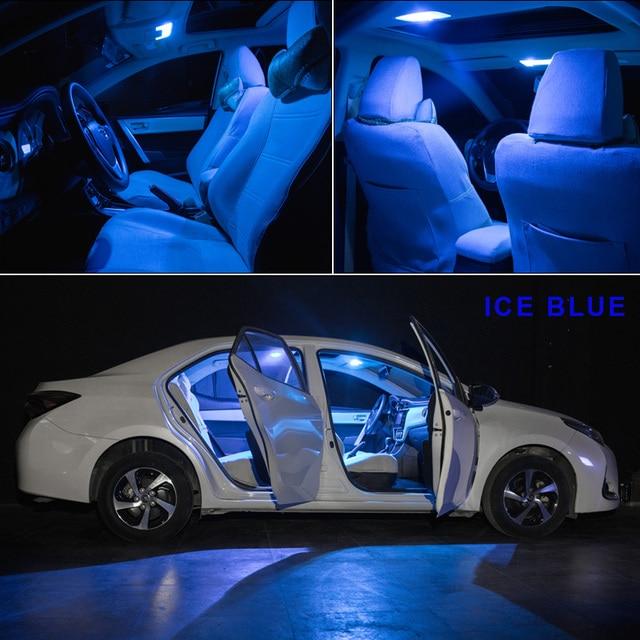 14 Bulbs White LED Car Light Interior Kit Fit For Chevrolet Tahoe 2007-2010 2011 2013 2014 Map Dome Trunk Cargo License Lamp 6