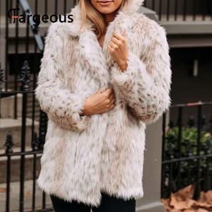 Image 4 - Leopard Luxus Faux Pelzmantel Jacke 2019 Winter Warm Langen Fell Flauschigen Teddy Jacke Mode Streetwear Shaggy Mantel Oberbekleidung
