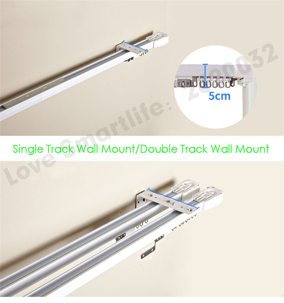 Customize Super Quiet Electric Curtain Track for Aqara Aqara B1 Motor Dooya KT82 DT82 Motor,Smart Curtain Rails System,To Russia-8