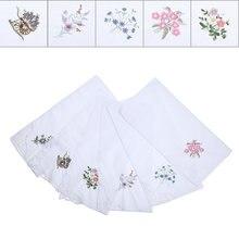 6 шт детские кружевные бабочки с вышивкой