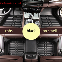 цена на lsrtw2017 leather car floor mats for volkswagen golf 6 mk6 vw 2008 2009 2010 2011 2012 interior styling accessories stickers rug
