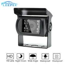 Carro ir câmera de visão noturna monitor de alta definição led câmera de visão traseira para caminhão reboque parque invertendo câmera suporte ônibus