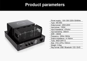 Image 5 - Nobsound MS 30D MKII Bluetooth Amplifier tube Amplifier support Bluetooth USB optical Coaxial Bass DVD CD input Amplifier