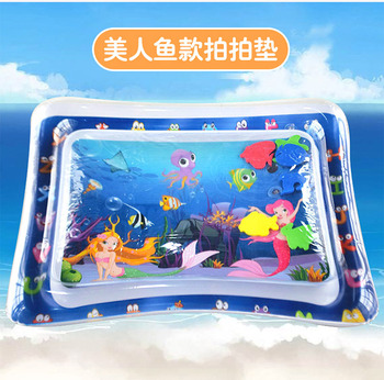Baby Water Mat Pat Pad Spray Inflatable Different Patterns Water Cushion Marine Life Mat Ice Music Water Accessories - Mermaid 61x51CM
