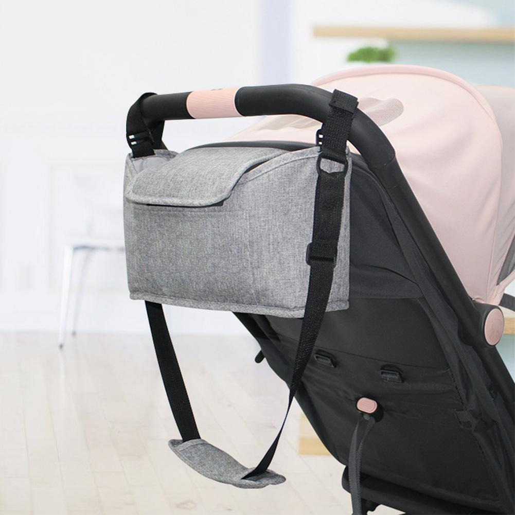 Universal Baby Stroller Bag Black Stroller Organizer Travel Diaper Bags Baby Carriage Pram Buggy Cart Bottle Bag Accessories