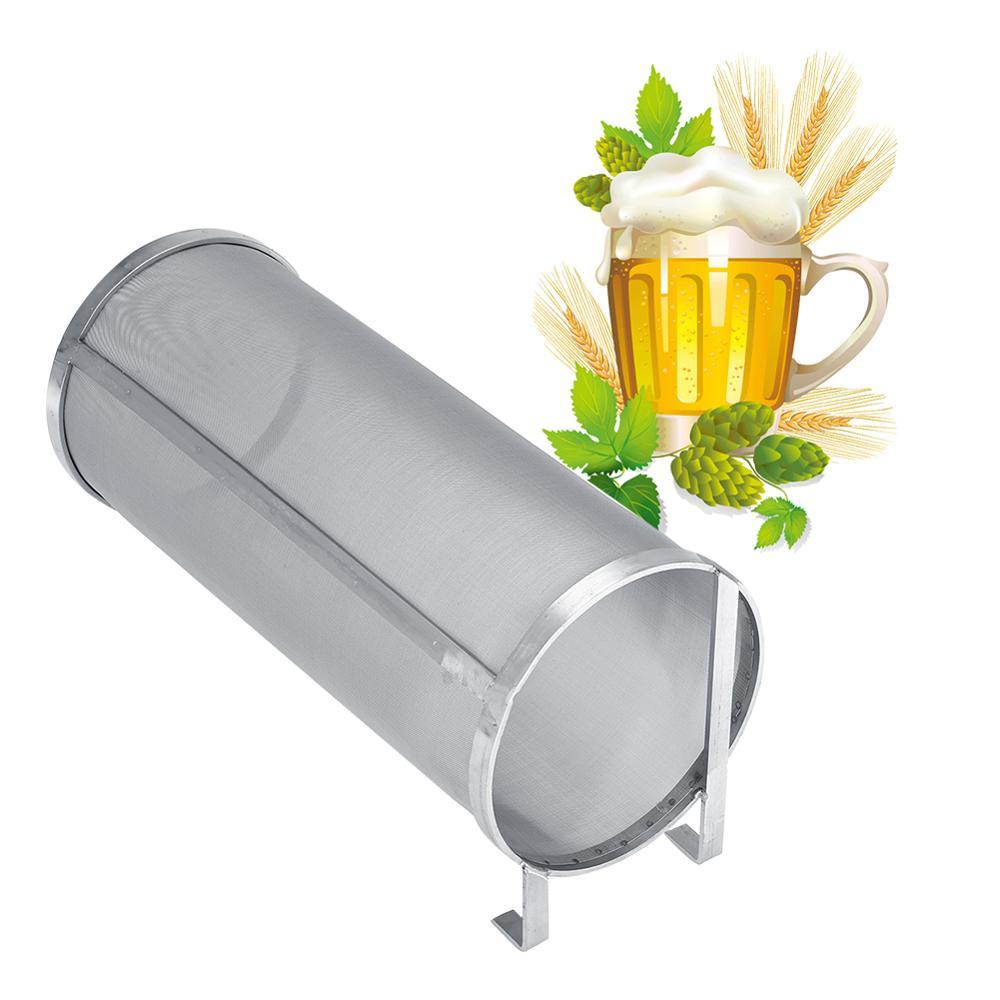 300 Микрон нержавеющая сталь домашний пивоваренный пивной хоп сетчатый фильтр с крюком пивной пивоварения хоп паук сетчатый фильтр