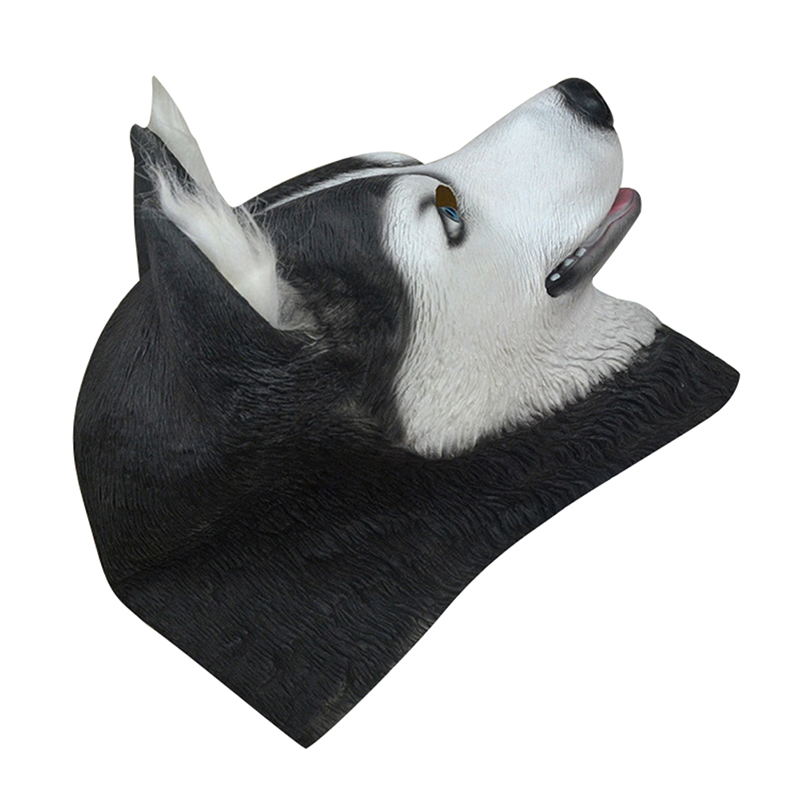 Halloween Trick Party Simulation Animal Husky Latex Mask Dog Head Environmental Protection Material Halloween Party Props 4