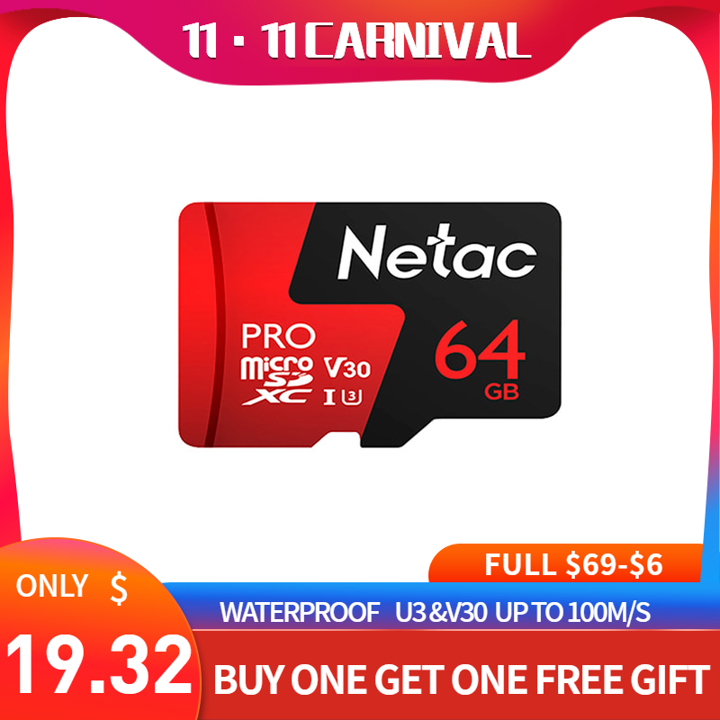 Cartão de Vídeo 10 para Smartphone Netac Micro Cartão 128gb Tablet Class10 Memória Vara Classe Trans-flash Portátil Câmera P500 sd