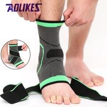 AOLIKES 1 шт. 3D спортивный фиксатор для голеностопа, протектор, компрессионная поддержка лодыжки, эластичный нейлоновый ремешок, фиксатор для футбола, баскетбола