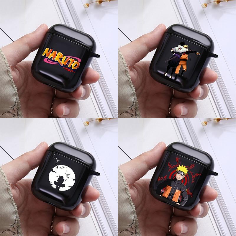 Cute Naruto Sasuke Kakashi Soft Black Cover For Apple Airpods Cases 1 2 Wireless Earphone Accessories Airpod Case Japan Anime