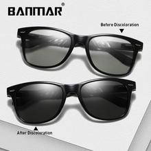 BANMAR New Photochromic Sunglasses TR90 Men Polarized Chameleon Glasses Male Sun Day Night Vision Driving Eyewear
