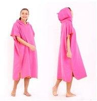 Fashion Microfiber Quick drying Bathrobe Beach Cloak Bath Towel Changing Cover Hooded For Swim Beach Surf Poncho Towel