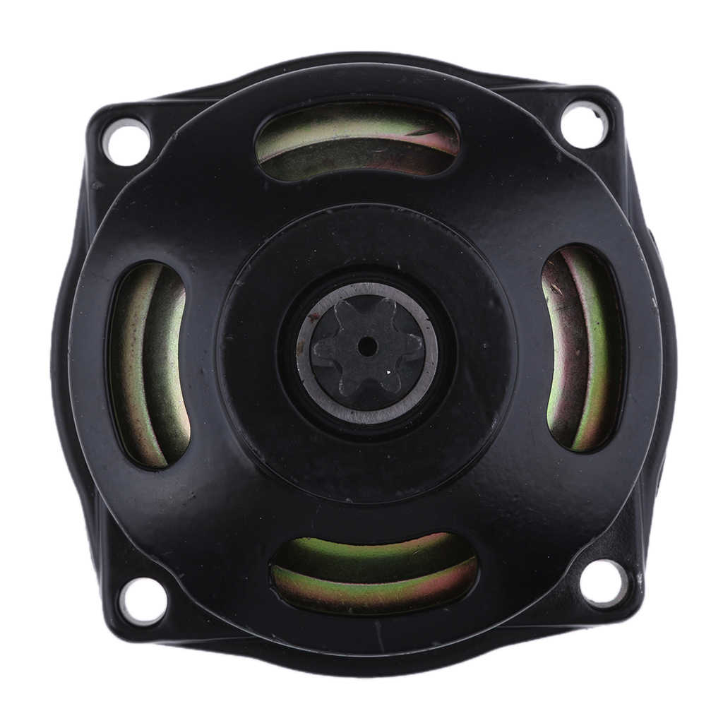 6T 25H 클러치 드럼 벨 하우징 49cc 미니 먼지 포켓 ATV 쿼드 바이크 (블랙)