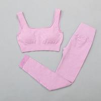 BraPantsPurple - Women's sportswear Seamless Fitness Yoga Suit High Stretchy