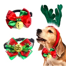 Christmas Festival Decoration Dog Collar Ties Adjustable Small Pet Cats Bow Tie Neckties for Puppy Cat