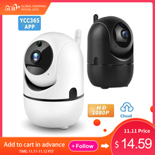 YCC365 플러스 IP 카메라 1080P 비디오 와이파이 홈 보안 무선 IP 감시 카메라 클라우드 자동 추적 모션 감지 캠