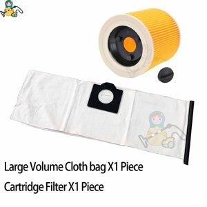 Image 4 - ผ้ากระเป๋าถุงกระดาษสำหรับ Karcher WD3 กระเป๋า WD3300 WD3.500P MV3 WD3200 SE4001 SE4002 6.959 130 Karcher ทำความสะอาดกระเป๋า